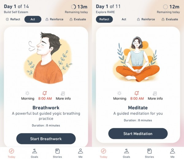 One of the fastest-growing meditation apps in India that fosters the habit for quality meditation, based on deep research, and is behavioral science-backed