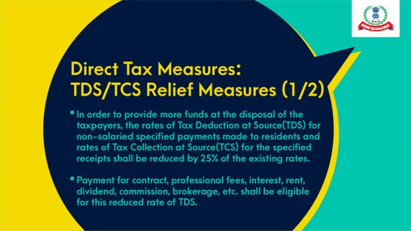 Reduction in rate of Tax Deduction at Source (TDS) & Tax Collection at Source (TCS) FY 2020-21