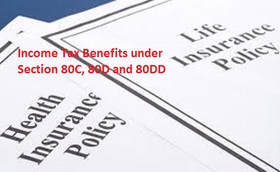 Income Tax Benefit for taking Life Insurance Policy 80C, Health Insurance 80D, and Expenditure on Medical Treatment 80DD