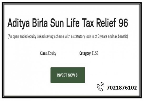 Last-minute tax saving through Aditya Birla Sun Life Tax Relief 96 Mutual Fund