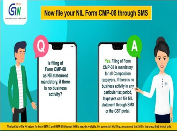 Now file your Nil Form CMP-08 Through SMS