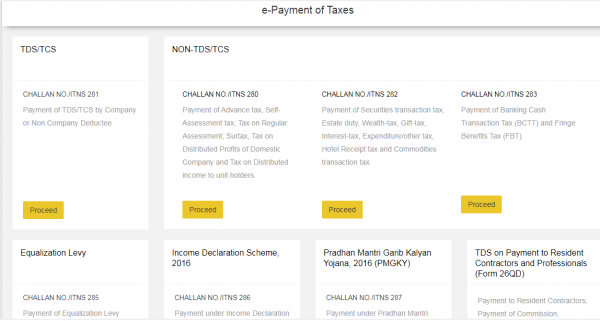 E-Payment of Direct Taxes