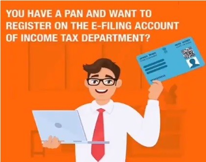 How to register on the e-filing account with your PAN?