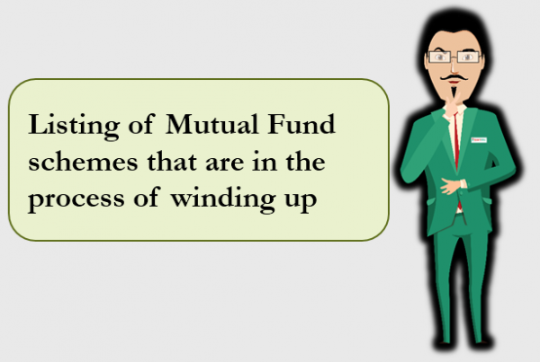 Listing of Mutual Fund schemes that are in the process of windingup