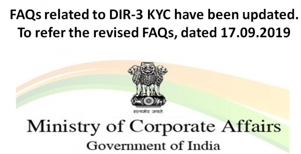 FAQs related to DIR-3 KYC have been updated. To refer the revised FAQs, dated 17.09.2019